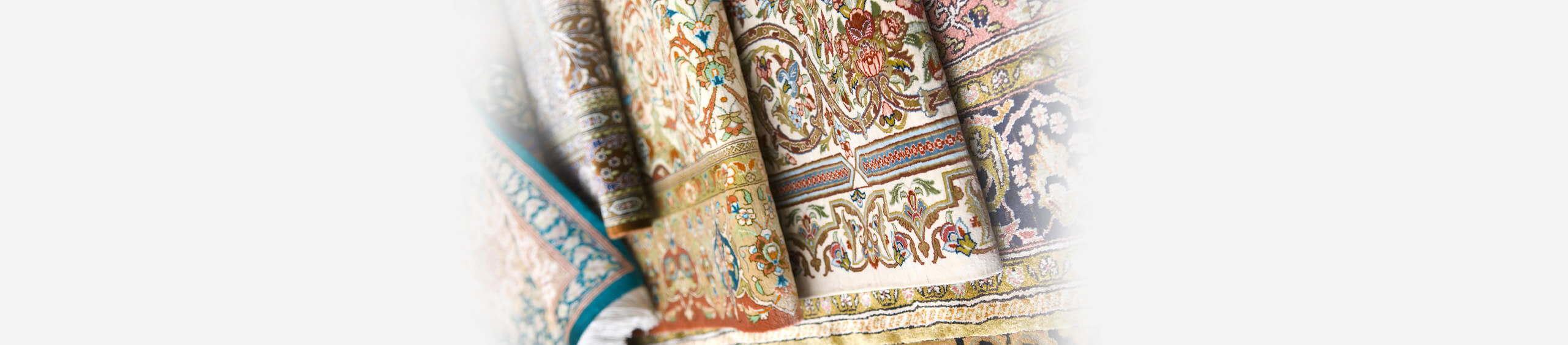 oriental carpet and rugs folded