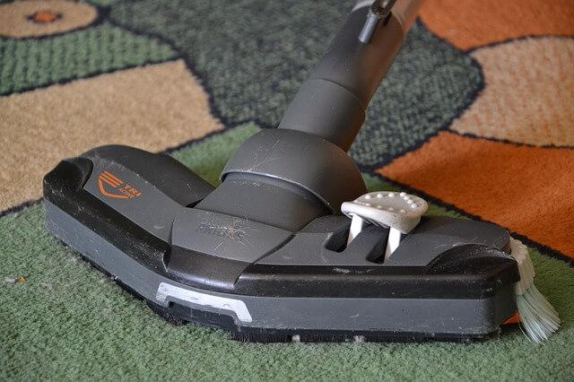 vacuming of a home carpet